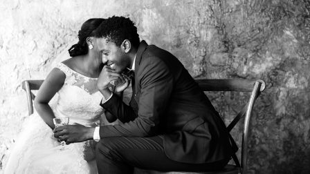 newlywed-african-descent-couple-wedding-P3CGHZ2.jpg